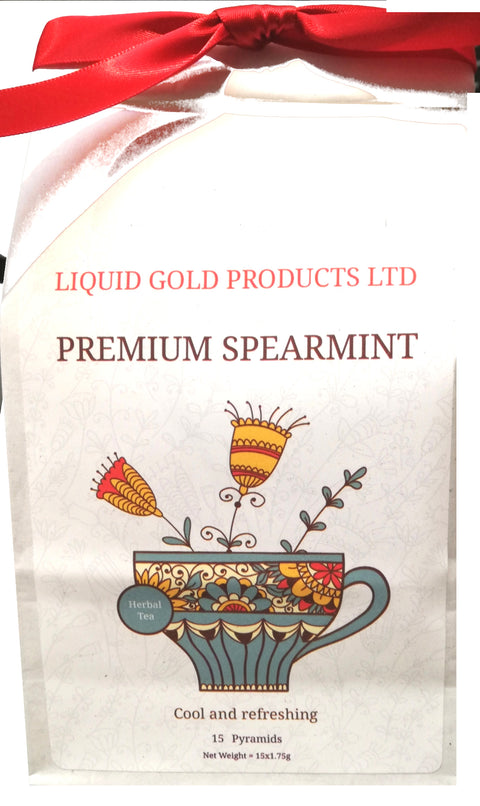 Premium Mint  tea in gift bag, 15 biodegradable tea bags