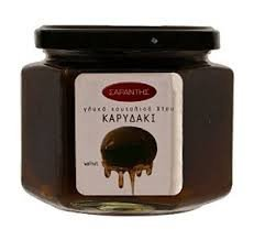 Greek whole walnut fruit compote, topping, 'karydaki' by Sarantis