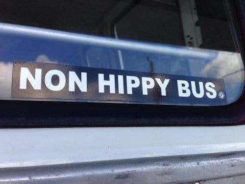 Non Hippy Bus Sticker