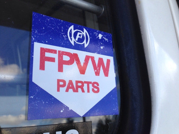 Parts box logo Sticker