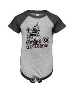 Speedy Delivery Baseball Infant creeper