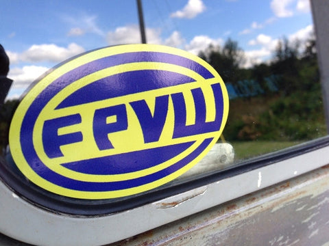 FPVW oval Sticker