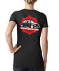 Women's Red & Black Desgn