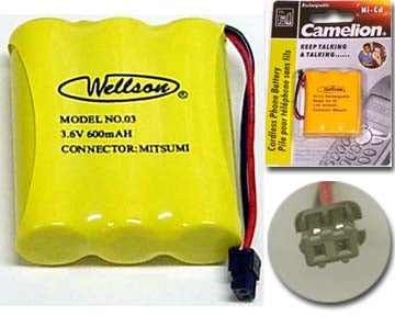 29-03 3.6V 600mAh Cordless Phone Battery Ni-CD
