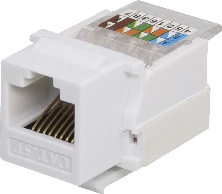 07-6021WH CAT5 Toolless Keystone Jack