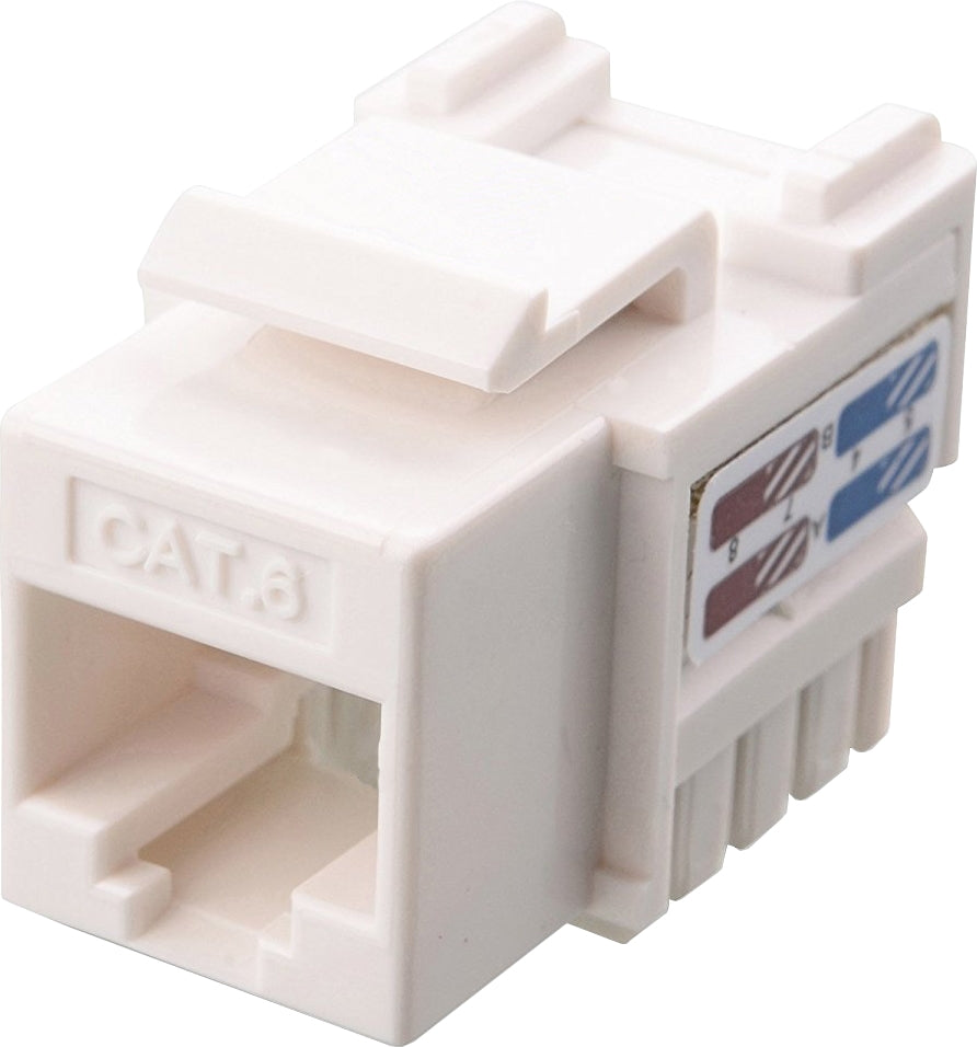07-6026WH CAT6 Toolless Keystone Jack - White