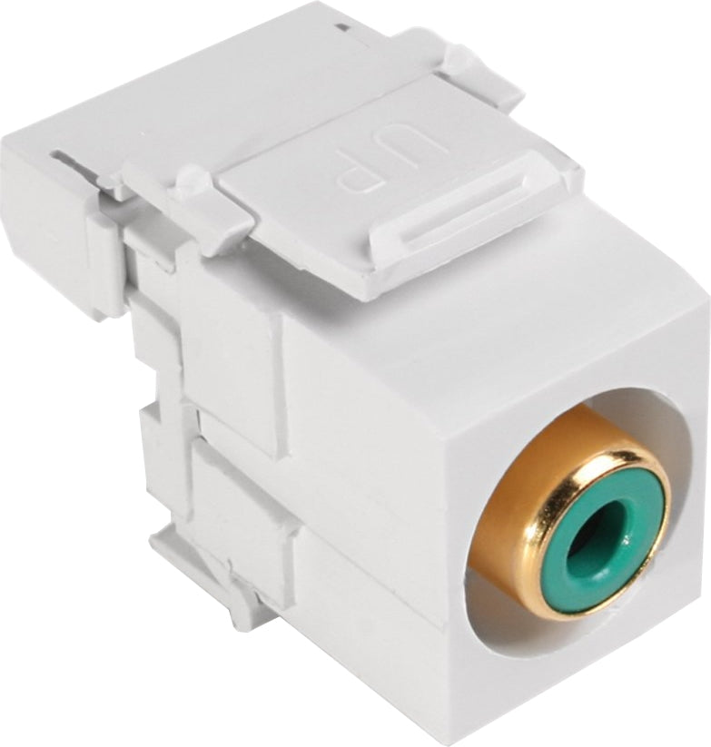 07-6057-01GN RCA Punch Down Keystone Jack - Green