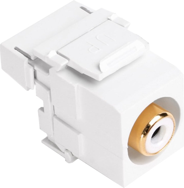 07-6057-01WH RCA Punch Down Keystone Jack - White