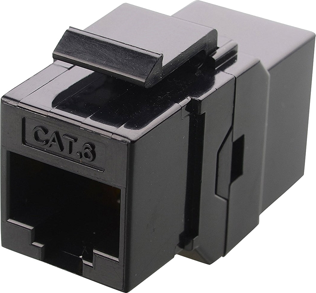 07-6062BK RJ45 CAT5 CAT6 Keystone Coupler - Black