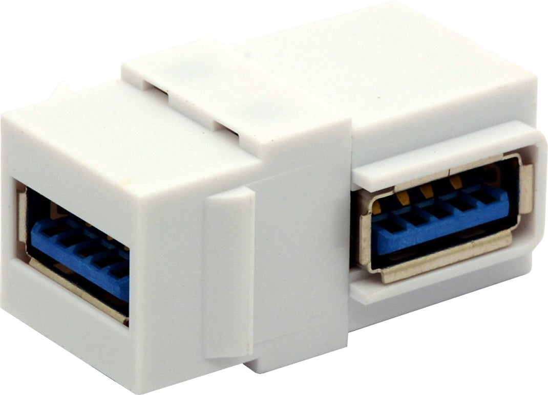 07-6063-02 USB 3.0 A Type Female to Female 90 Degrees Keystone Jack