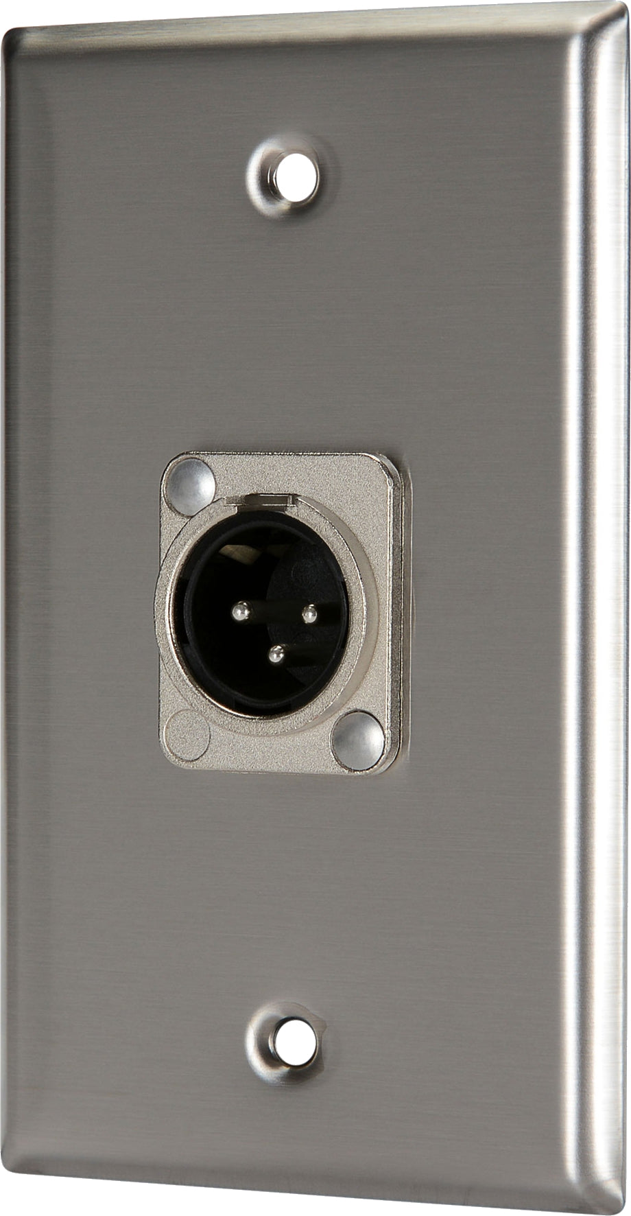07-6072-01 Stainless Steel Wall Plate with 1*XLR Male