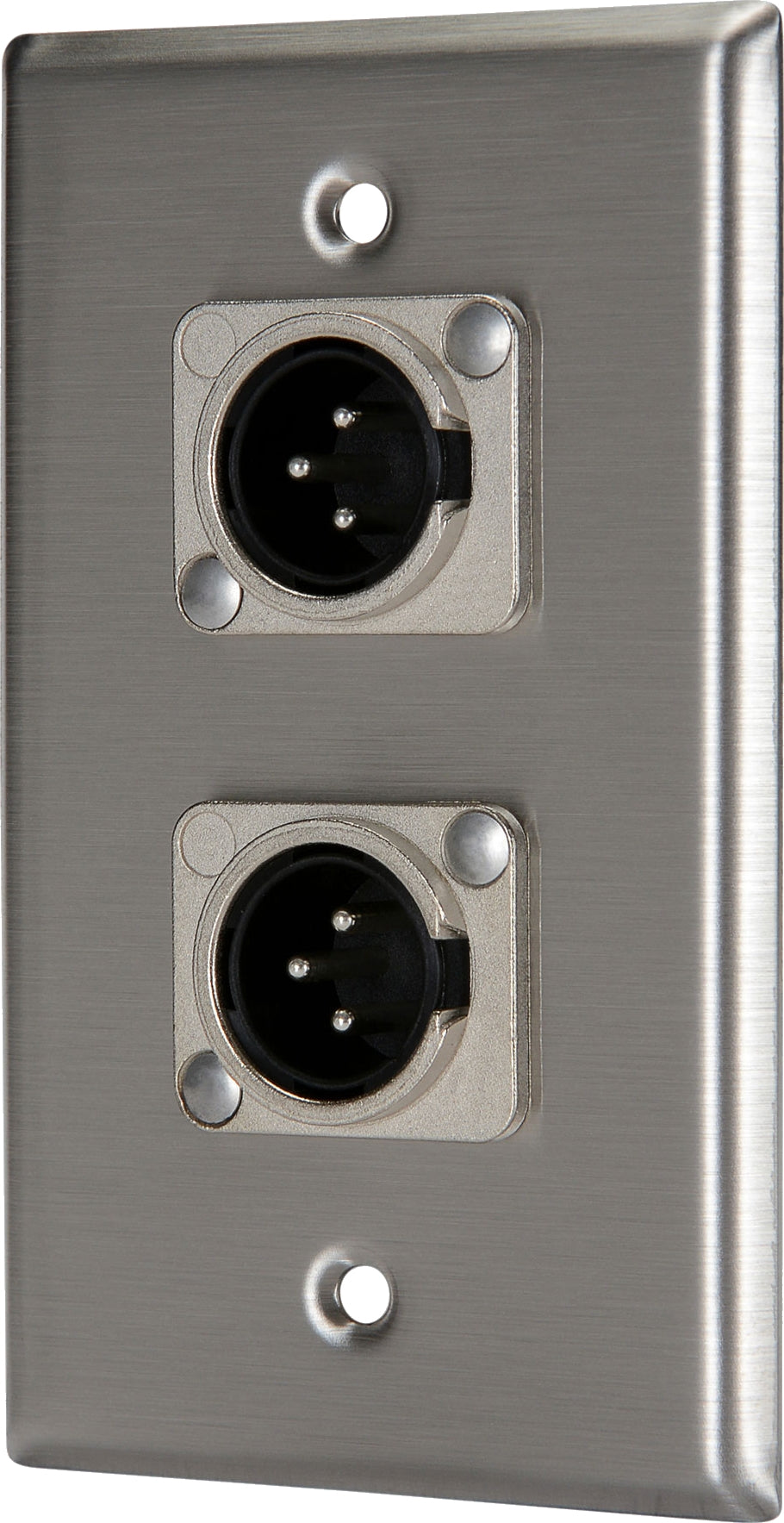 07-6072-02 Stainless Steel Wall Plate with 2*XLR Male