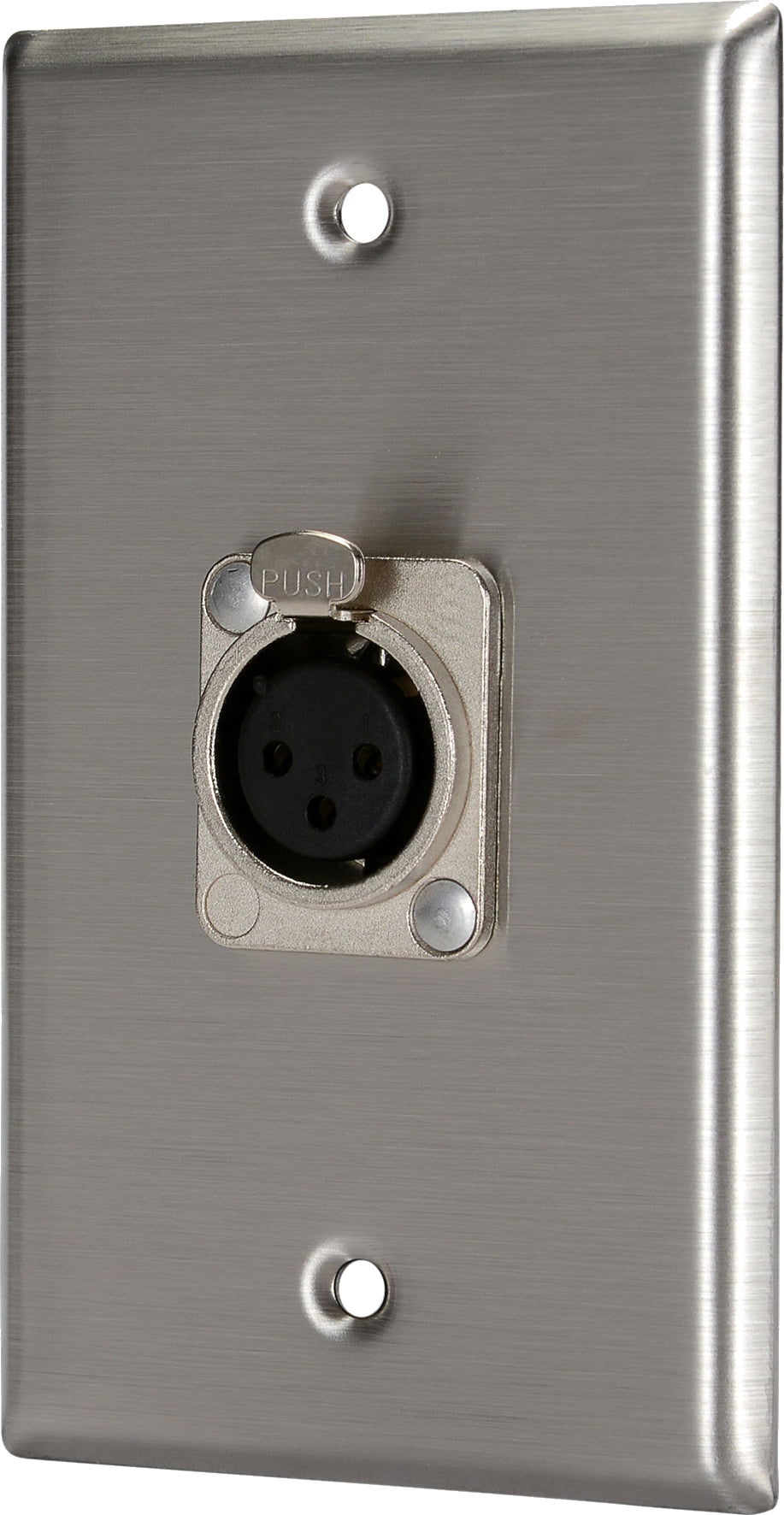07-6072-11 Stainless Steel Wall Plate with 1*XLR Female
