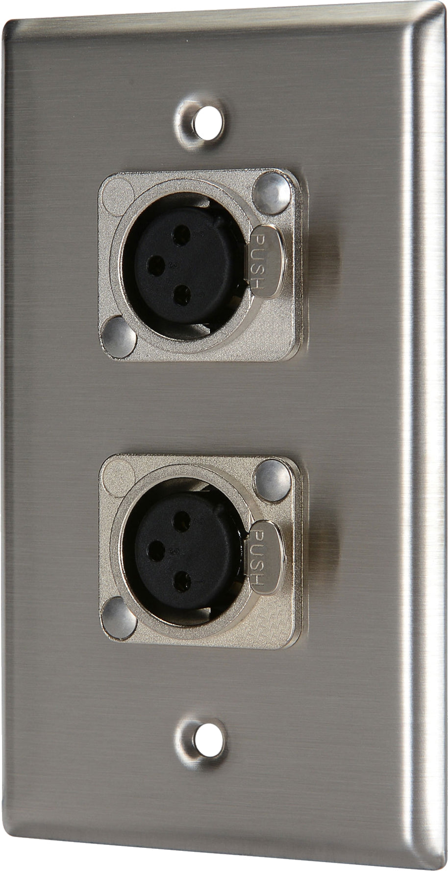 07-6072-22 Stainless Steel Wall Plate with 2*XLR Female