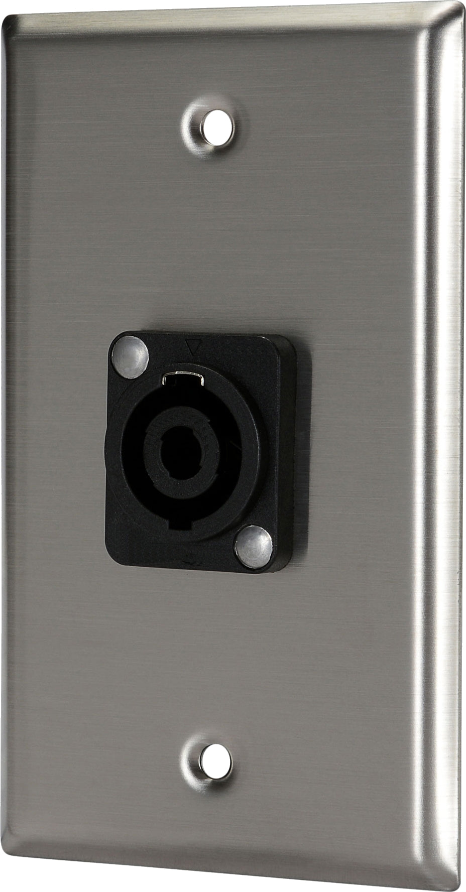 07-6072-26 Stainless Steel Wall Plate with 1*Speakon Female