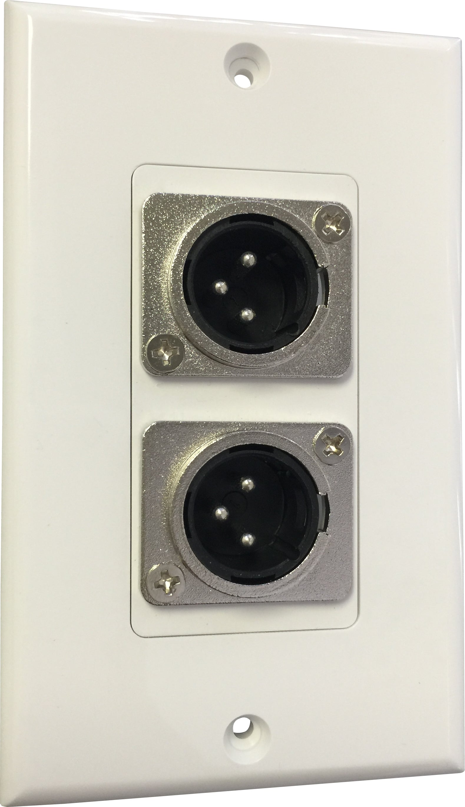 07-6072-32 Plastic Wall Plate with 2*XLR Male