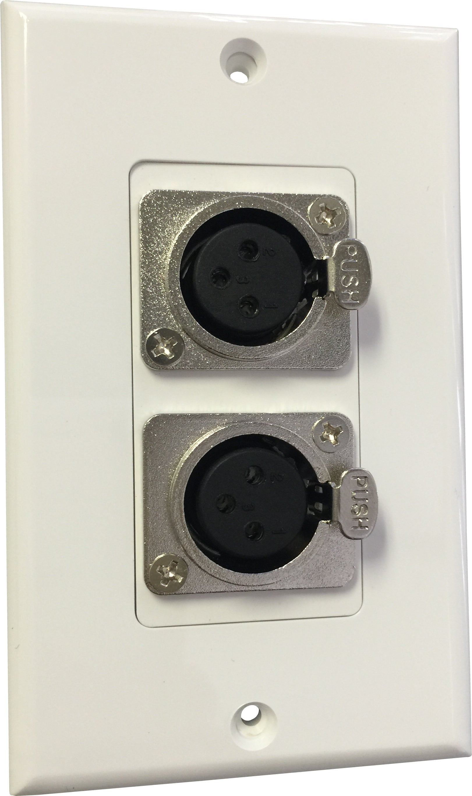 07-6072-42 Plastic Wall Plate with 2*XLR Female