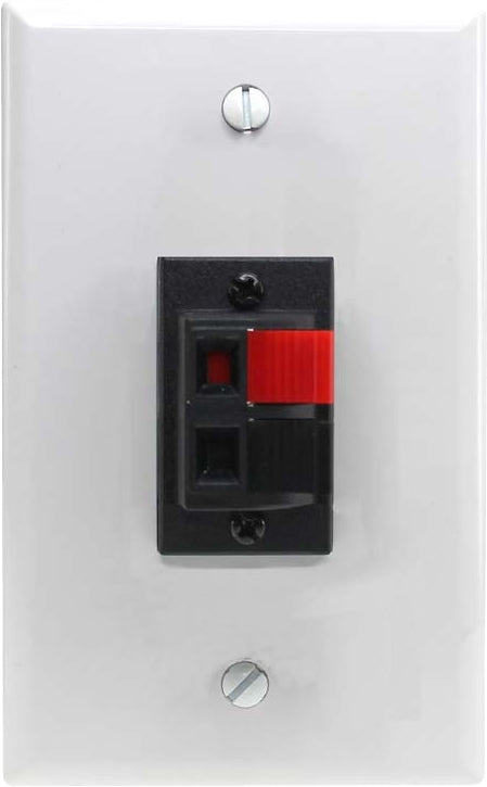 07-6072-52 Plastic Wall Plate with 2*Speaker Terminal Spring Clip