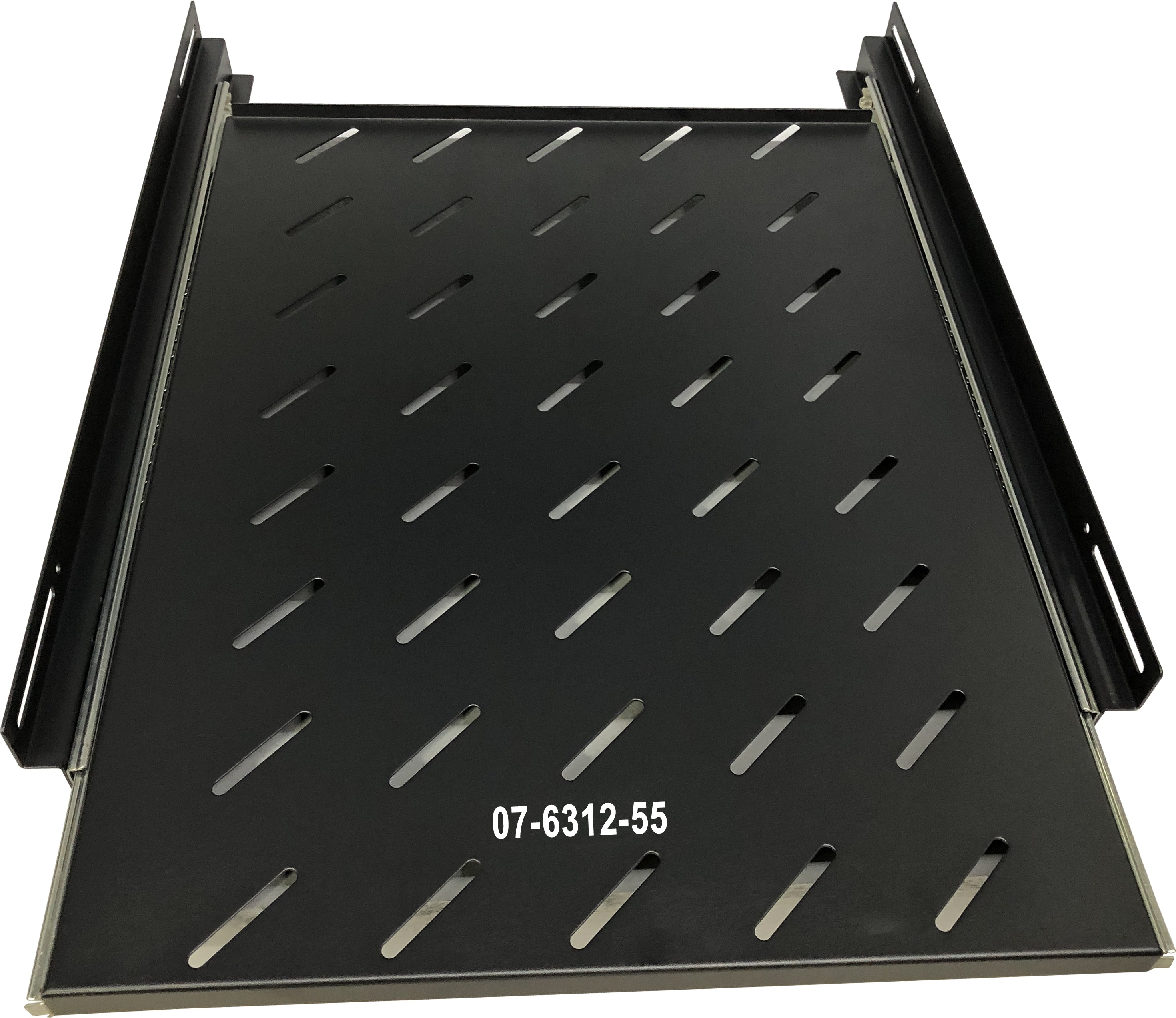 07-6312-55 1U Universal Rack Mount Sliding Shelf - 55cm for 80cm depth Cabinet