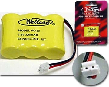 29-10 3.6V 320mAh Cordless Phone Battery Ni-CD