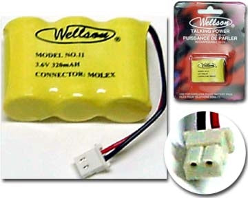 29-11 3.6V 320mAh Cordless Phone Battery Ni-CD