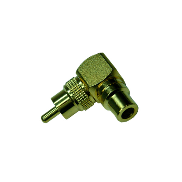 15-0524 RCA Female to RCA Male Right Angle