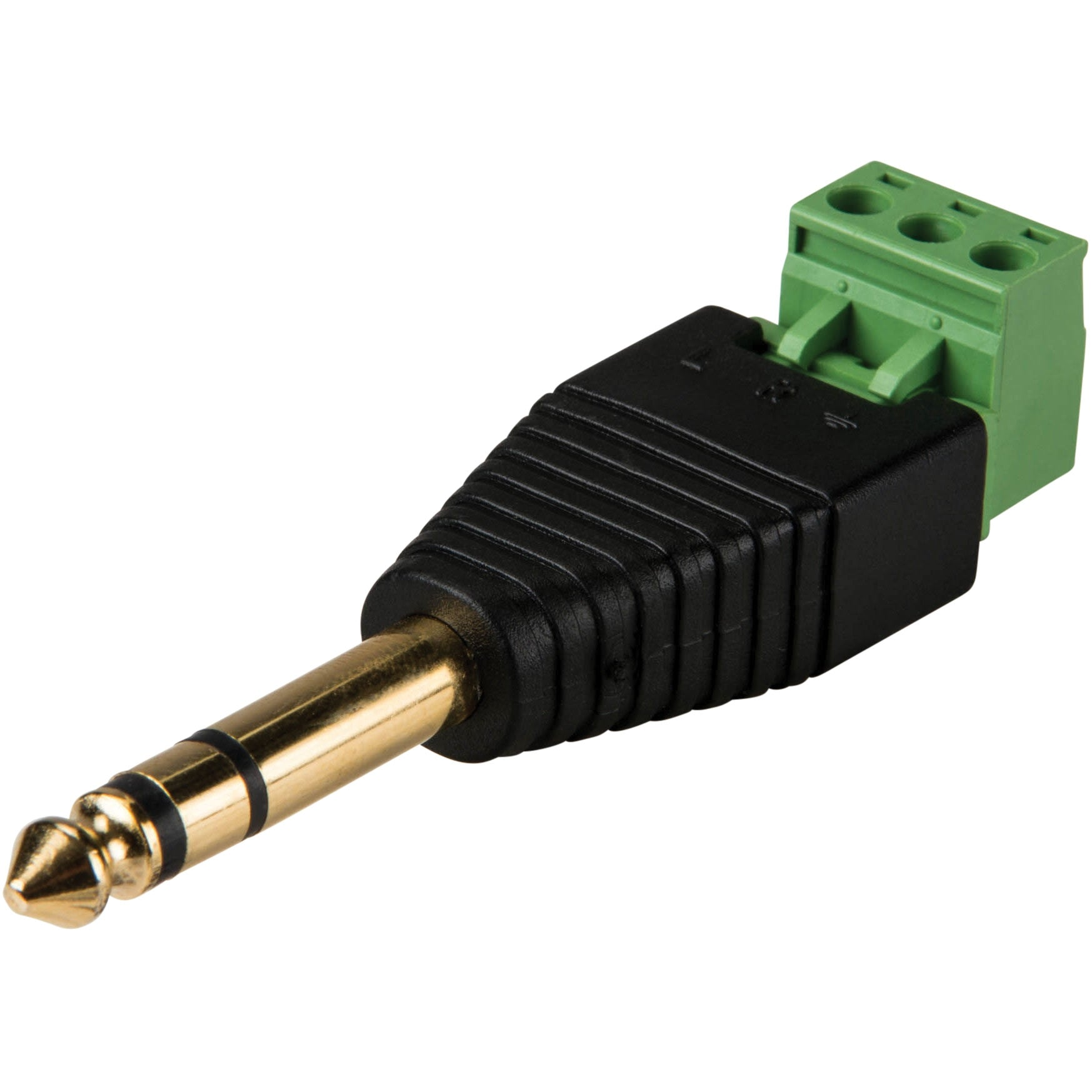 "15-1886 1/4"" Stereo Male Screw Terminal Connector"