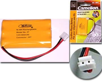 29-27 3.6V 800mAh Cordless Phone Battery Ni-CD