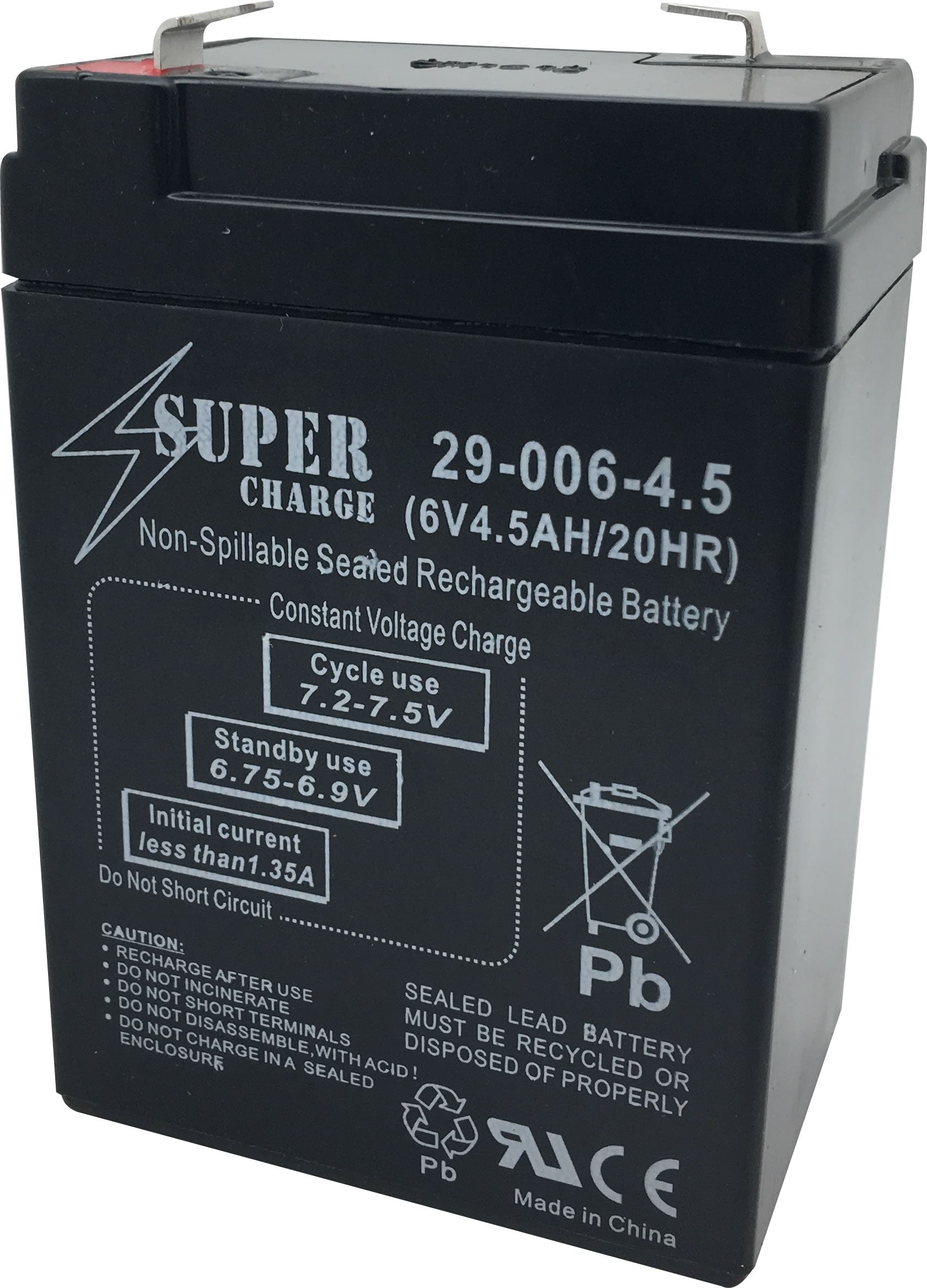 29-006-4.5 Rechargeable Battery 6V 4.5AH 20HR