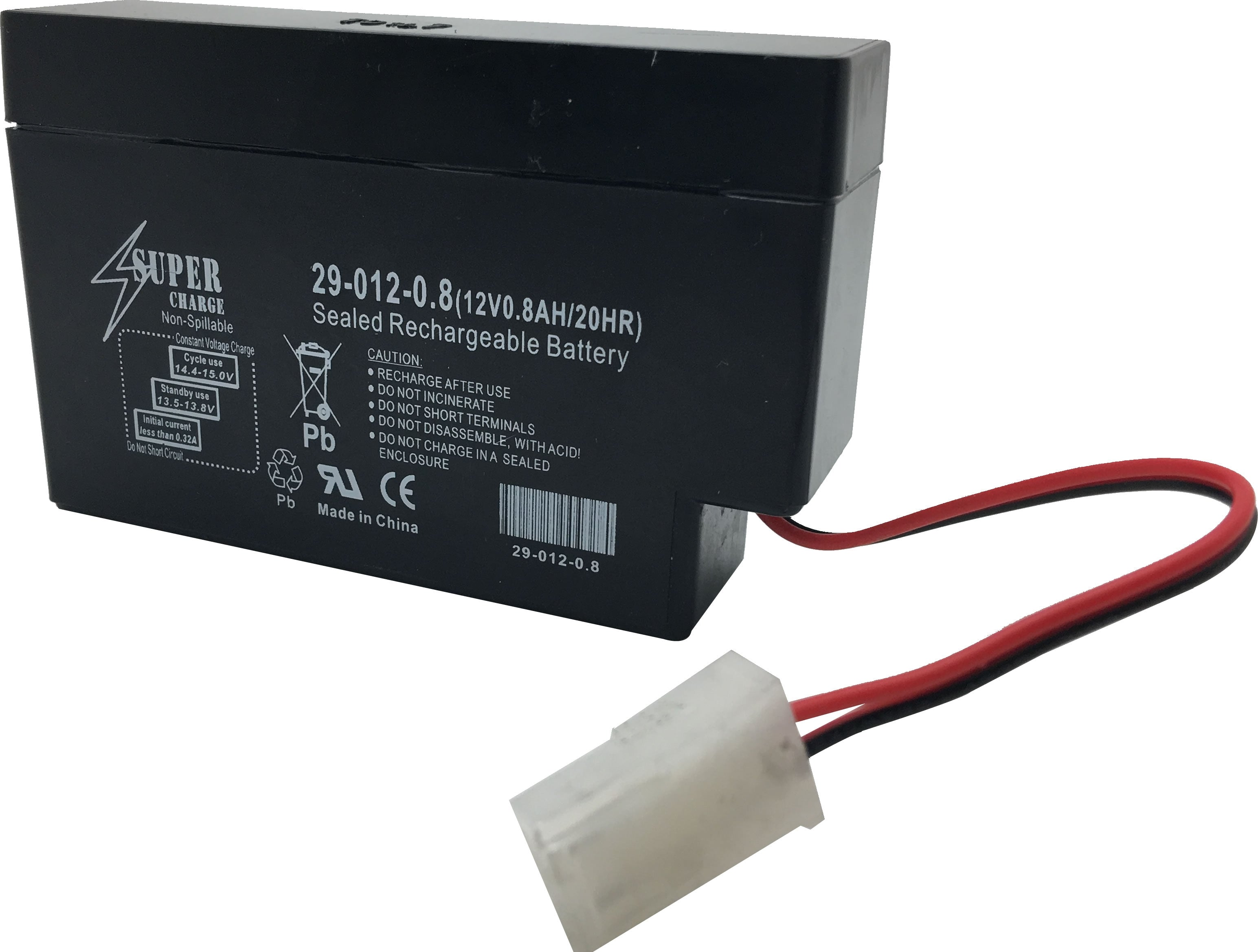 29-012-0.8 Rechargeable Battery 12V 0.8AH 20HR