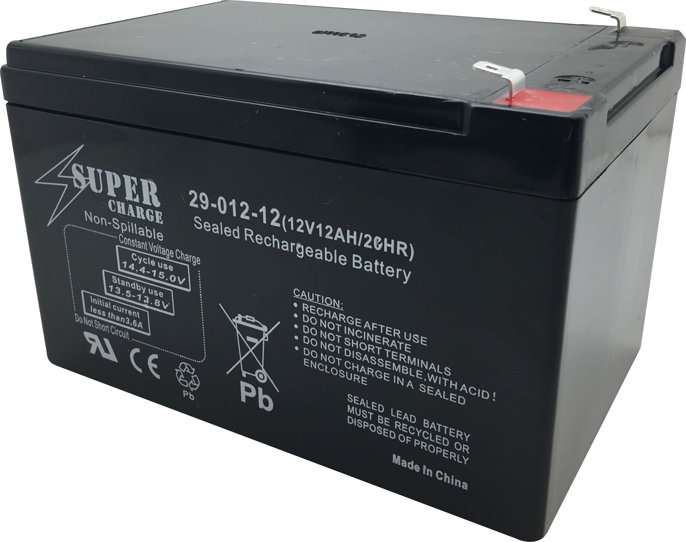 29-012-12 Rechargeable Battery 12V 12AH 20HR