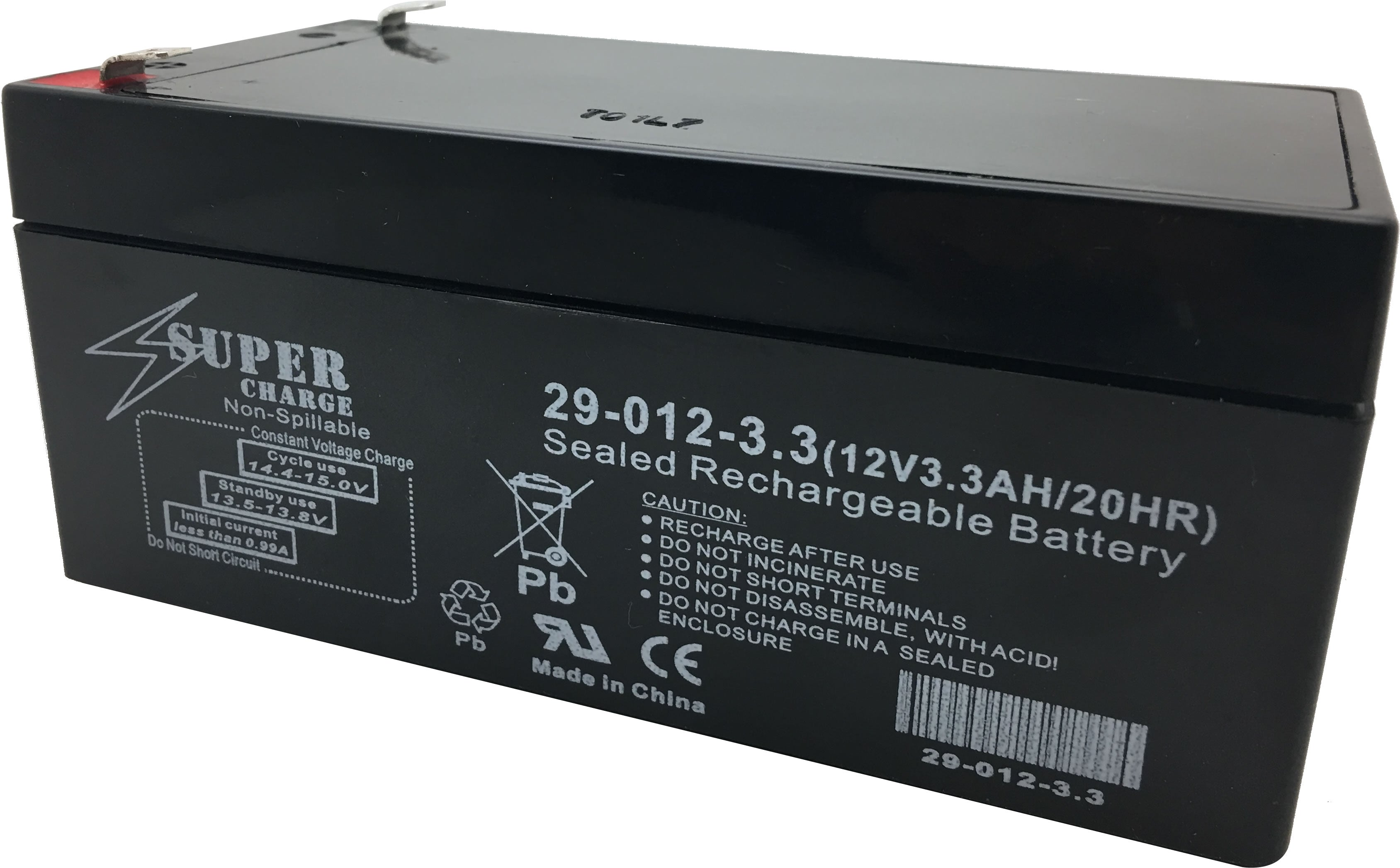 29-012-3.3 Rechargeable Battery 12V 3.3AH 20HR
