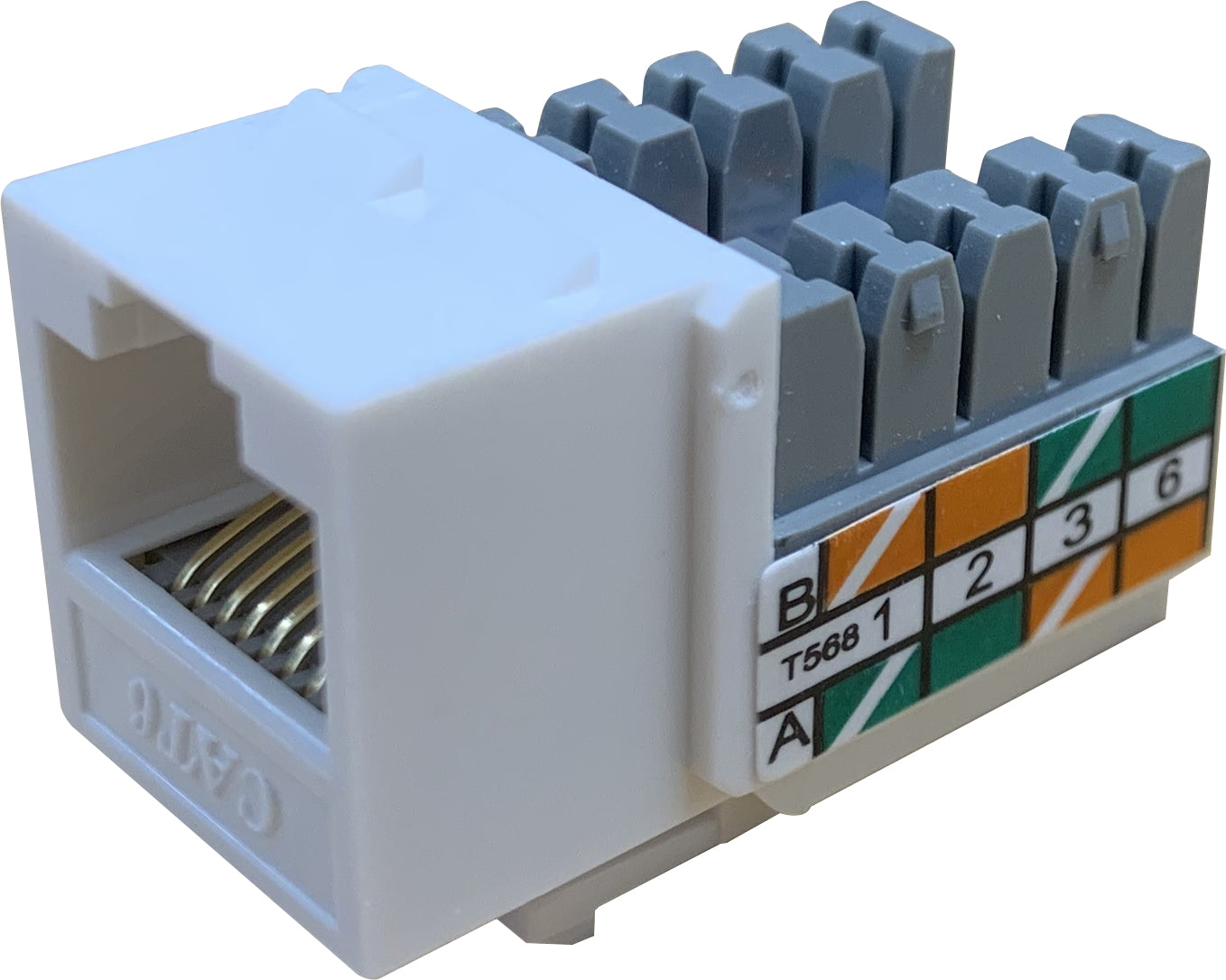 07-6025 90 Degree RJ45 Ethernet Keystone Jack