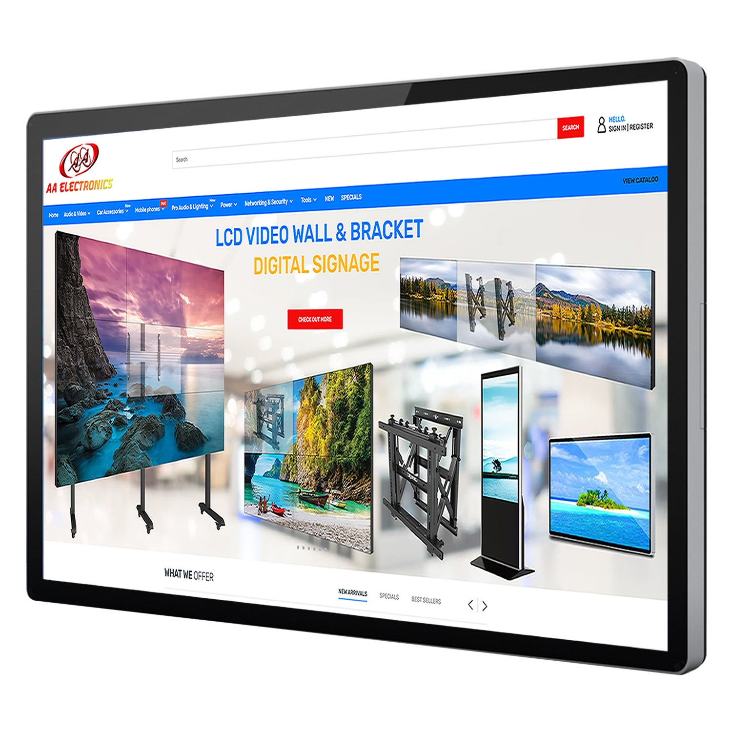 "30-5511 55"" Wall Mounted Digital Signage with Touch Screen"