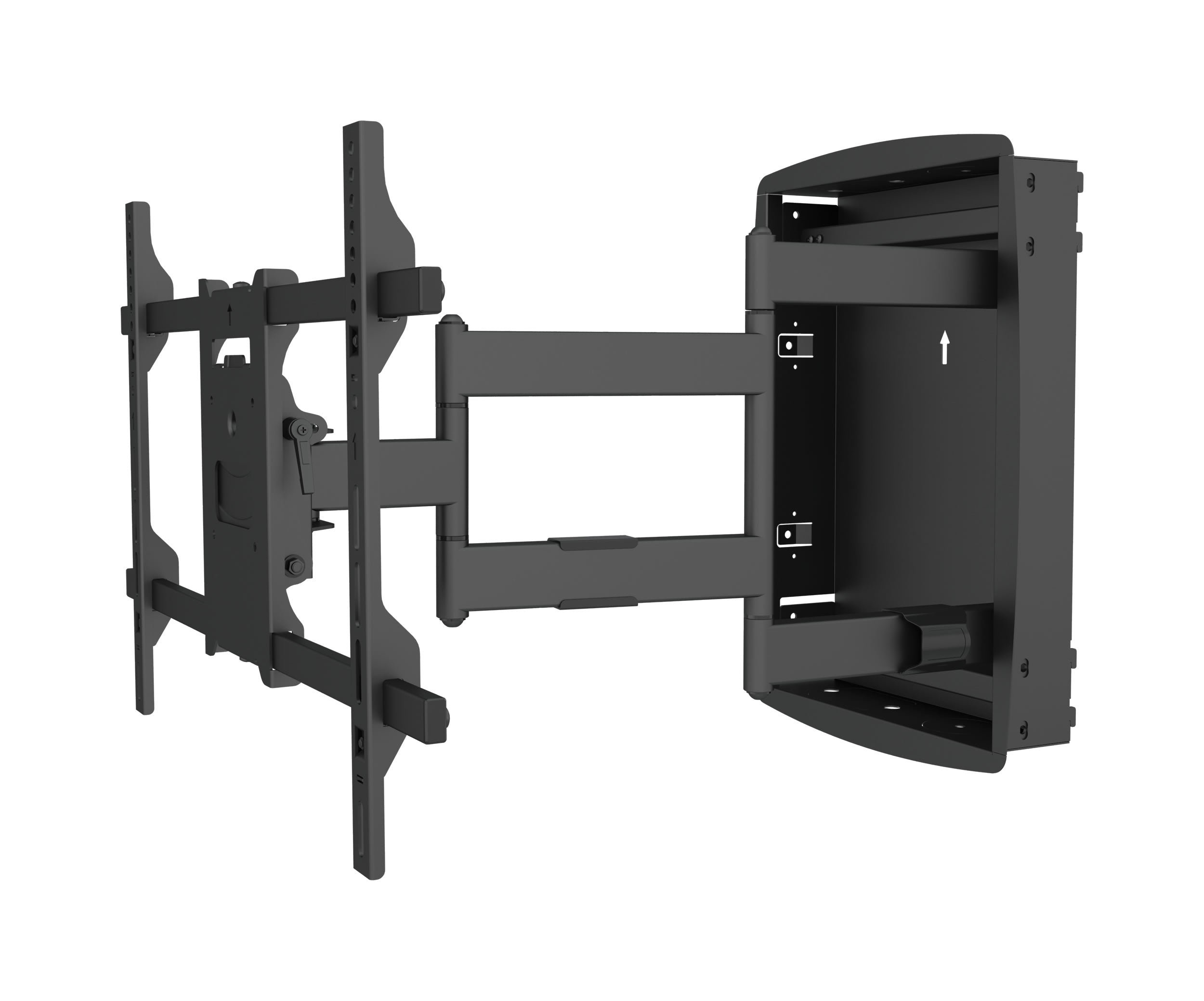 Full motion In-Wall Flat LCD LED TV / Panels Wood Stud Mount Bracket for 32-70 inches Screens