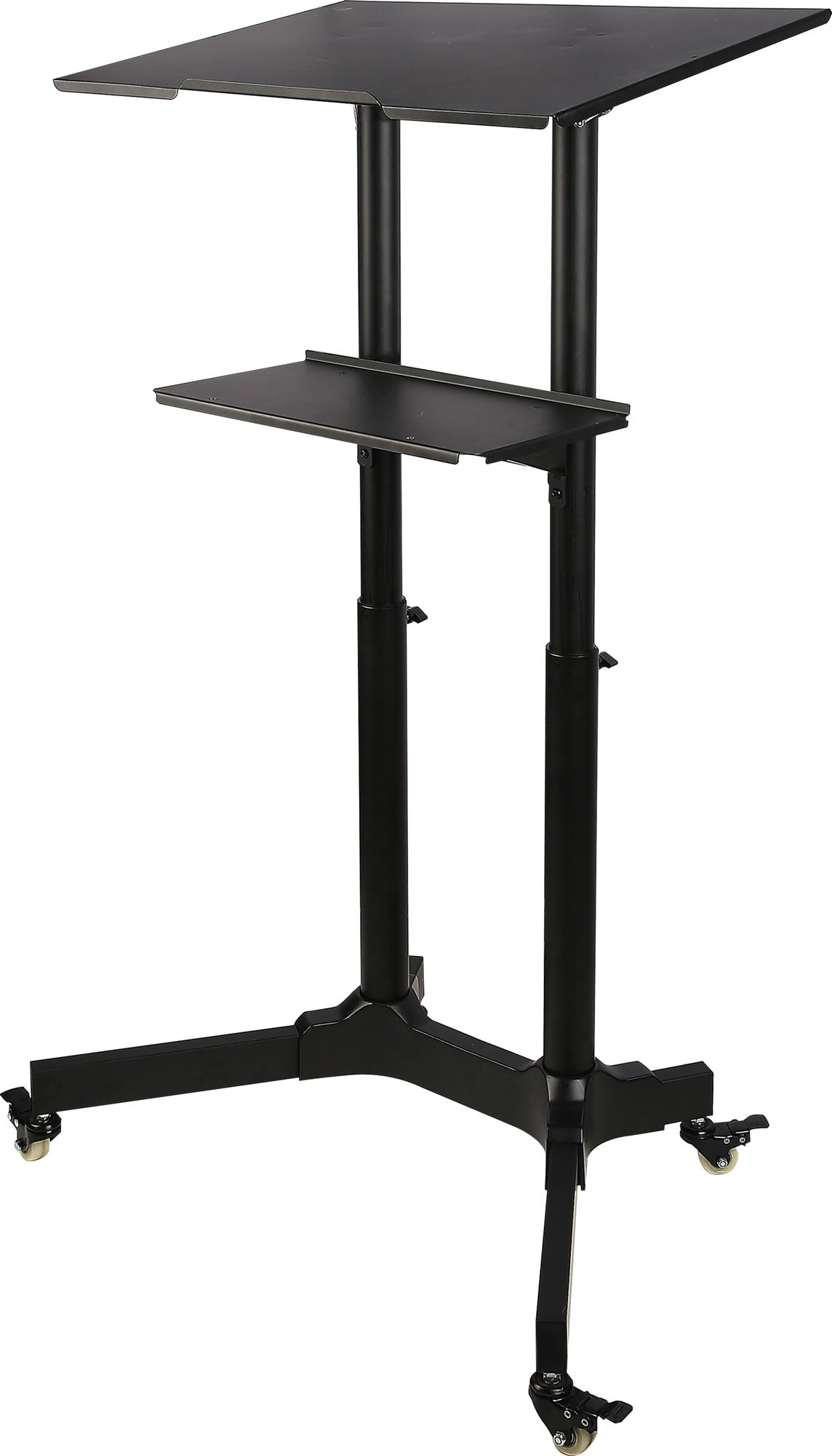 64-1210 Mobile Adjustable Height Stand Up Workstation