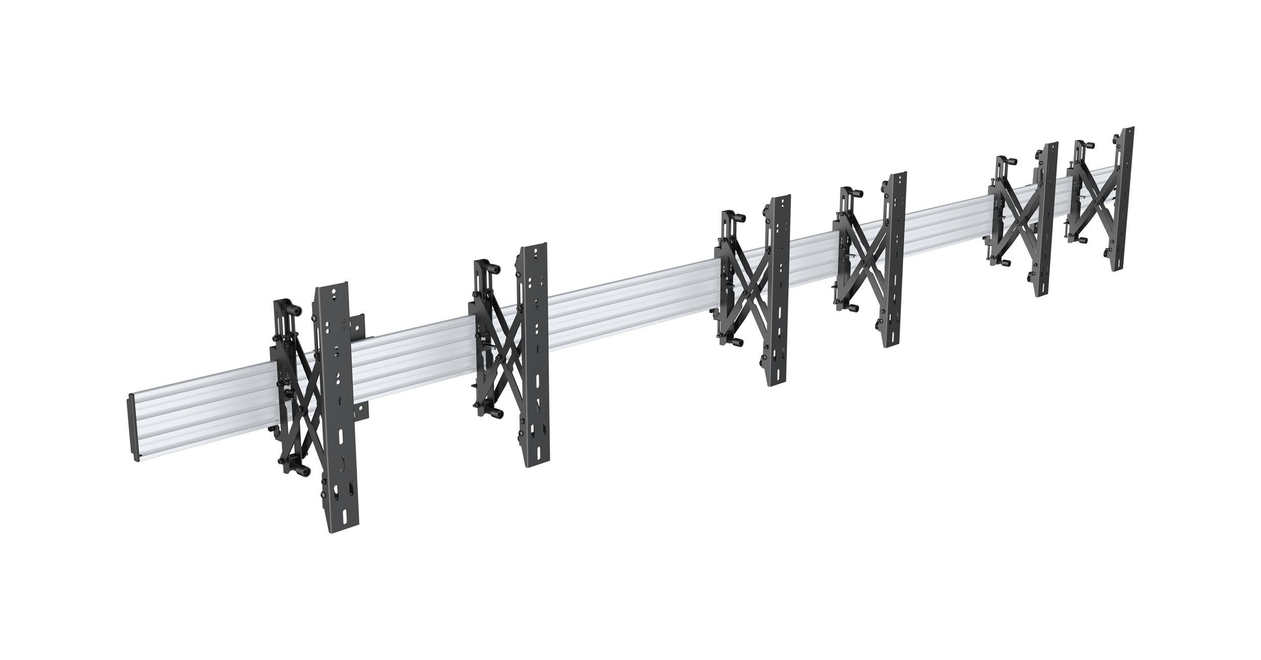 64-1313P 1x3 Video Wall Wall Mount Bracket - Push & Pop Arms