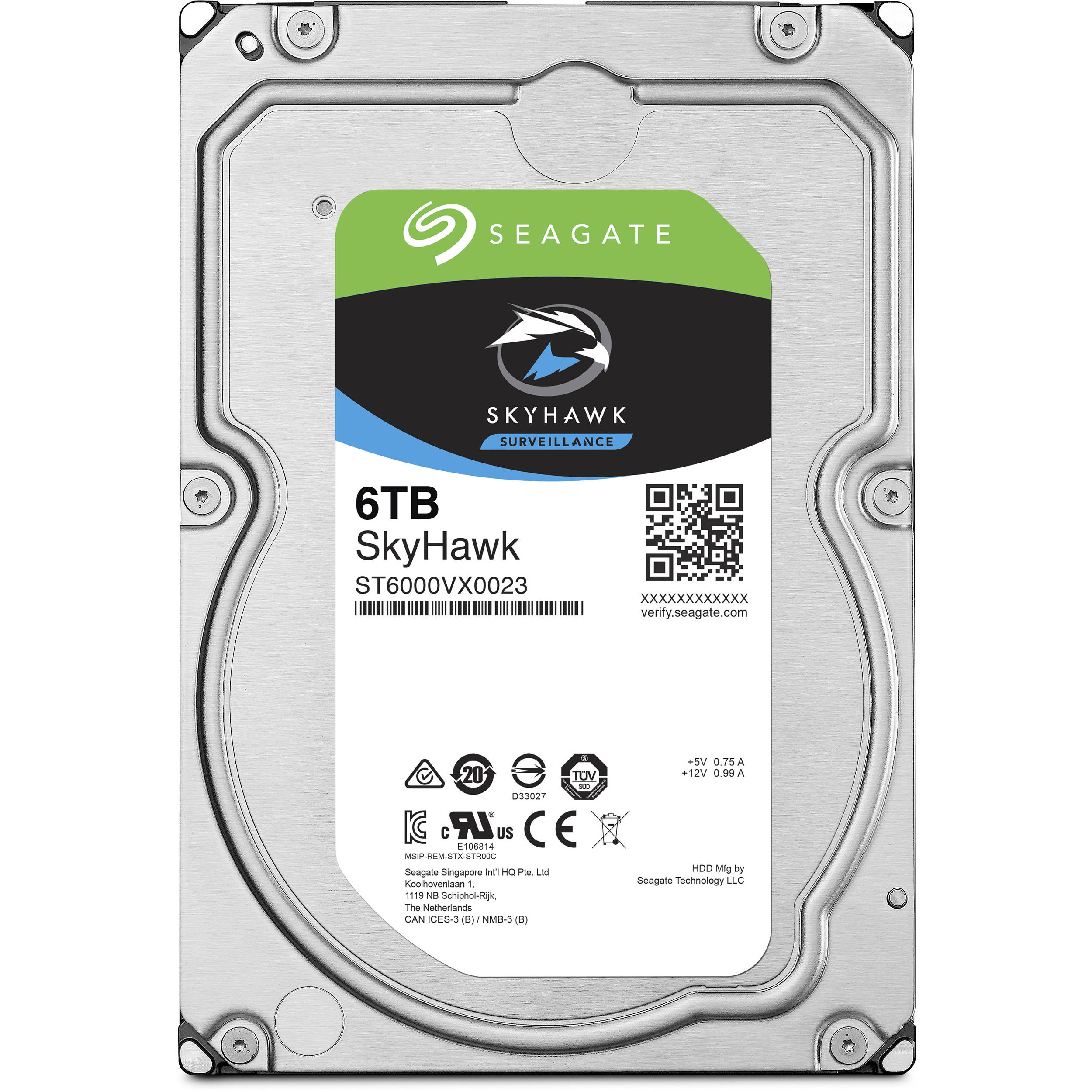 Seagate SkyHawk 6TB Surveillance Internal Hard Drive for DVR NVR