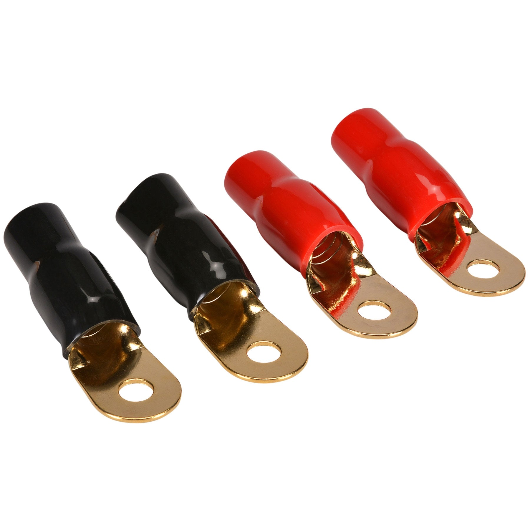 86-0010-XX Insulated Wire Cable Round Terminal Connectors Gold For 8 or 10 AWG