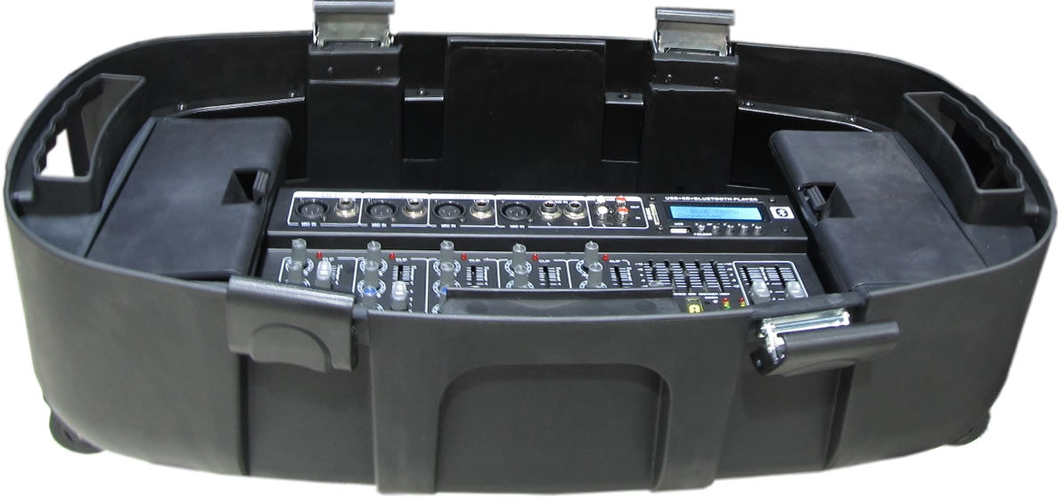 87-43101B Professional Active DJ Mixer Kit with Built-in MP3 Player & 2*Monitor Speaker