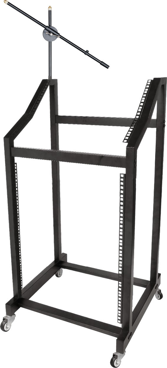 96-4046 19 Inch DJ Mixer Stand with Microphone Holder