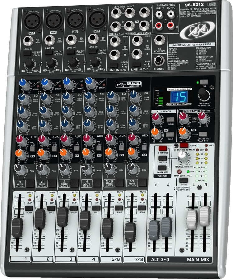 96-8212 12 Channels Premium USB Audio Mixer