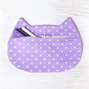 Cat Cosmetic Bag Dotted