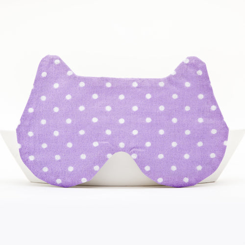 Violet Dotted Bear Sleep Mask