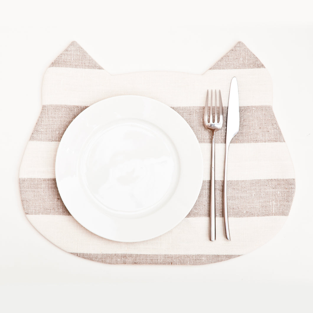 Striped Cat Placemat, Housewarming Gifts