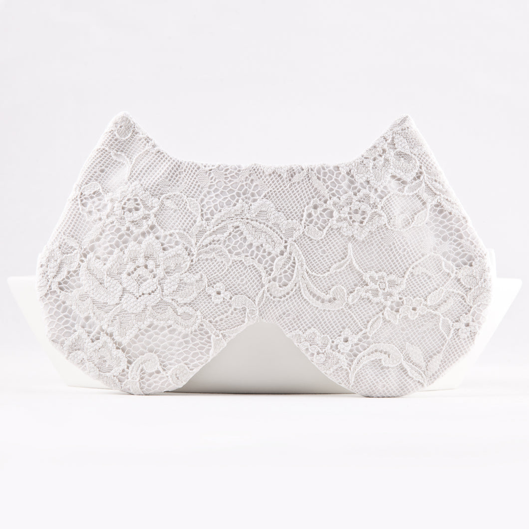 White Lace Cat Sleep Mask