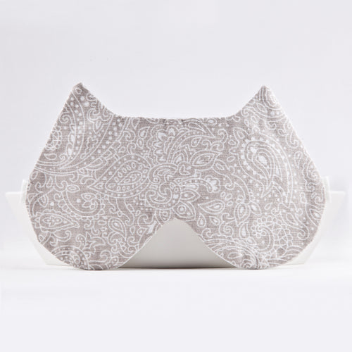 Cat Beige Paisley Sleep Mask, Travel gifts for Women, Cat Lover Gift