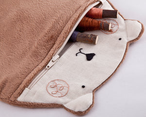 Bear Plush Cosmetic Bag