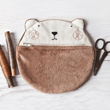 Load image into Gallery viewer, Bear Plush Cosmetic Bag