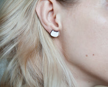 Load image into Gallery viewer, White Cat Stud Earrings